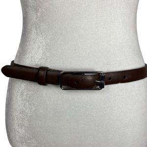 Banana Republic Brown Thin Leather Belt - M